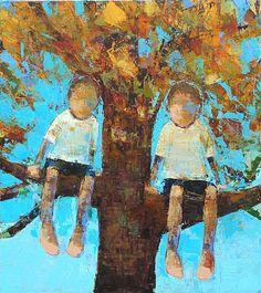 Rebecca Kinkead, Oak Tree, 2011, oil on canvas, 45 X 40 inches