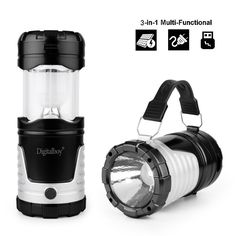 Amazon.com : Digitalboy Camping Lantern - Solar Rechargeable LED Camp Light Flashlights - for Camping, Fishing, Hiking, Backpacking : Sports & Outdoors