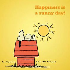 Happiness is a sunny day...Especially here in Ohio
