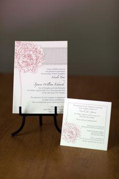 Pink Peony Wedding invitation (Bridal Fair)