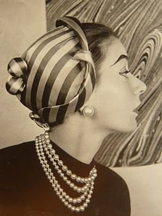 "From 1952 ""Chapeux de Paris"" (See Lost in the 50s blog for bundles more!)"