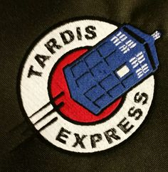 TARDIS EXPRESS 4 or 6 iron on Back patch by HeroGearDotORG on Etsy