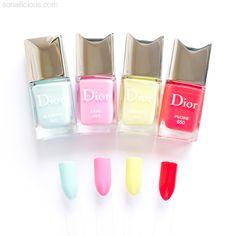 DIOR SPRING 2016 nail polish collection: http://sonailicious.com/dior-spring-2016-nail-polish-review-swatches/