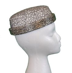 1960s Vintage Emme Beaded Pillbox Hat by nelsonbridge on Etsy, $89.00