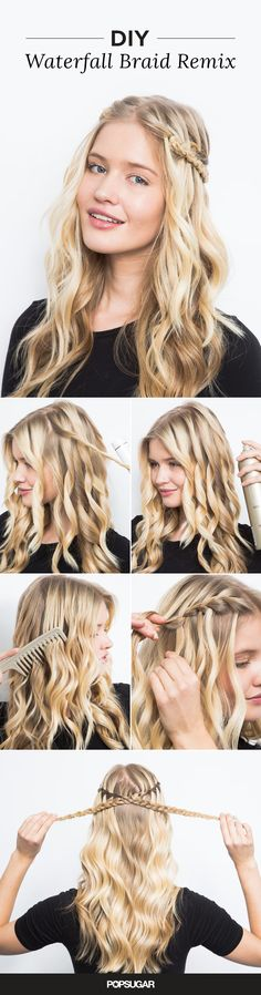 The waterfall braid looks way more complicated than it actually is! Try our easy tutorial to get this dreamy, wavy hairstyle in just a few simple steps.