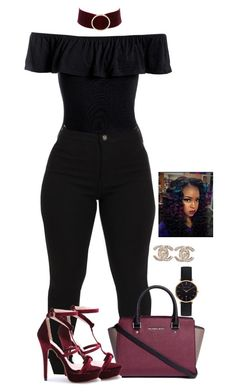 """""""Untitled #2160"""" by basnightshine1015 ❤ liked on Polyvore featuring Sans Souci, Michael Kors, Charlotte Russe, Abbott Lyon and Chanel"""