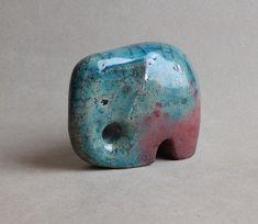 Ceramic sculpture Elephant, pottery Raku size: height 75 mm length 95 mm width 45 mm https://www.etsy.com/shop/CeramicBeadsUA?ref=profile_shopname