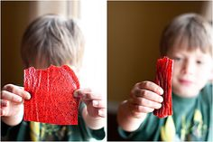 two ingredient fruit leather: strawberries and honey.