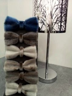 Sealskin bow ties