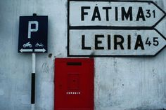 Tomar, Portugal  Letterbox and Street Signs