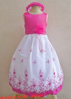 Flower Girl Dress FUCHSIA 072 Wedding Children by NollaCollection, $29.99  SO PERFECT!!! I want this for my flower girls!!! SO CUTE!