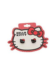 Hello Kitty Black Earrings got this thanks to olive Black Earrings, Gift List, Girls Accessories, Hot Topic, Pop Culture, Jewlery, Hello Kitty, Great Gifts, Kawaii
