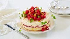 Oppskrift på iskake med pasjonsfrukt Norwegian Food, Sorbet, Tiramisu, Tin, Cheesecake, Pudding, Ice Cream, Treats, Ethnic Recipes