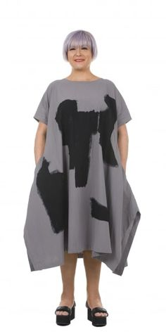 Moyuru Grey Oversized Print Dress | idaretobe Authorised UK Stockist