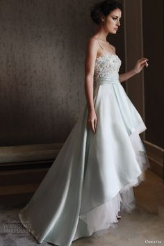 orkalia fall 2014 couture wedding dress with straps  #wedding #dress #bride