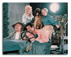 On the set of The Beverly Hillbillies