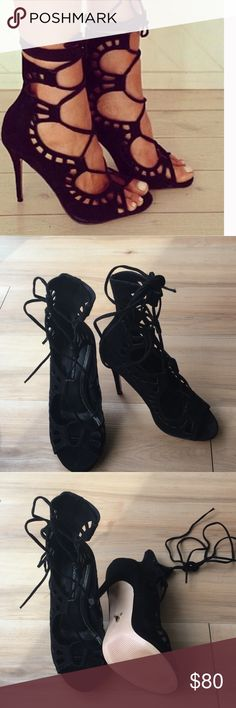 Windsor smith Gillie lace up  black sandal sz 37 Never worn! Accepting all reasonable offers windsor smith Shoes Heels