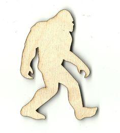 Bigfoot Unfinished Laser Cut Wood Shape MYTH26