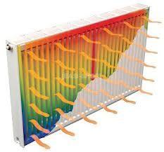 warmteafgifte - dat vind plaats in de radiatoren.. de warmte wordt afgegeven aan de lucht in de kamers