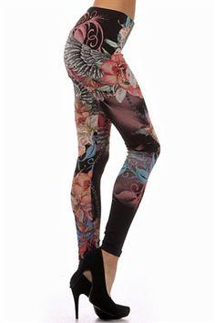 Plus Size Tattoo Leggings