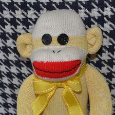 Traditional Sock Monkey Doll Now Available in by MarysMonkeys