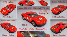Battery Operated Toy - www.tomaniatoys.com Ferrari Berlinetta, 24 Hours Le Mans, Car Makes, Battery Operated, Atc, Racing, Japan, Toys, Okinawa Japan