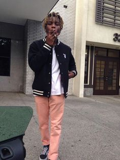 Ian Connor wearing some pink pants