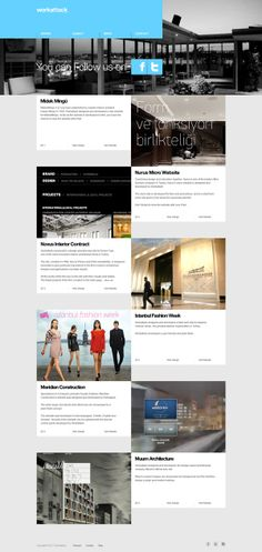 Workattack Website by Metin Saray, via Behance