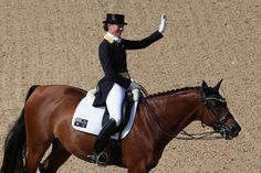 Lyndal Oatley of Australia riding Sandro Boy competes in the Mens/Womens Team Dressage Grand Prix event on Day 6 of the Rio 2016 Olympic Games at the Olympic Equestrian Centre on August 11, 2016 in Rio de Janeiro, Brazil.