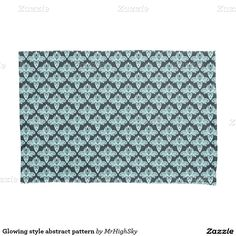 Glowing style abstract pattern pillowcase