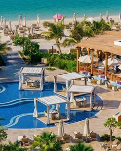 Traveling couple @nodestinations trying to decide what looks better at Waldorf Astoria Dubai, the beach or the pool?