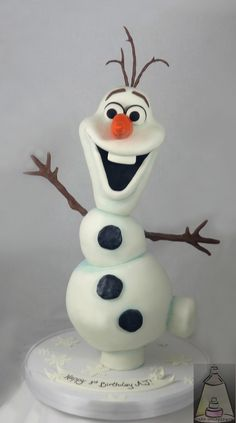 Olaf Fondant Birthday Cake Topper