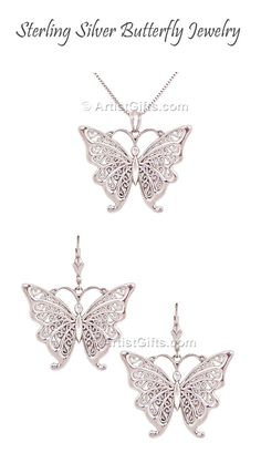 This butterfly wedding jewelry is perfect for the special Bride or Bridesmaids. Made in the U.S.A.
