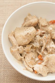 AIP Slow Cooker Chicken and Dumplings (AIP/Paleo)