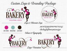 Custom Bakery Logo Branding Package  Business Card Alternate Logo and Facebook Design Logo Variation