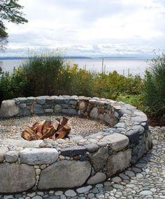 Heronswood FirePit near Seattle, Daniel Hinkley