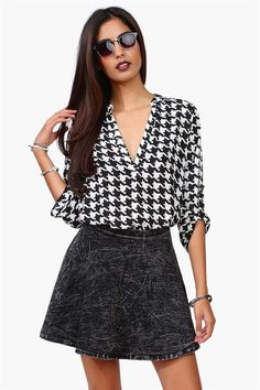 Link It Blouse in Black/White