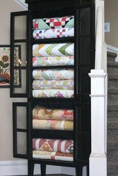 quilt display cabinet
