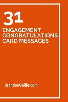 31 Engagement Congratulations Card Messages