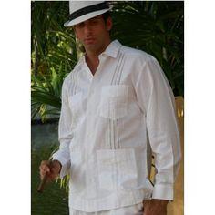 Guayaberas Long sleeve. Popular in the 70's in Latin America. Still look elegant.
