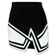 Omni  Crossover Cheer Uniform Skirt Item #: 422KS     Now: $19.95 that's a 43% savings!  Double knit polyester A-line cheer skirt Cross over panel with front V Adjustable button waist Back zipper closure Four-stripe tape Add $2 to price for each XXL size Manufactured by Chassé®