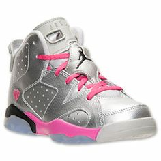 67aaad10da42 Girls  Little Kids  Air Jordan Retro 6 Basketball Shoes