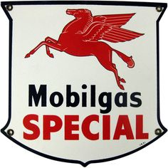 Mobilgas Special Enamel Sign 1950's from Hartsong on Ruby Lane