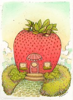 nimasprout - Art by Nicole Gustafsson: September 2011 Illustration Art, Illustrations, Mushroom Art, House Drawing, Wall Collage, Cute Drawings, Cute Art, Art Inspo, Art Sketches