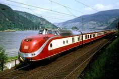 Alpen-See-Express at the river Rhine