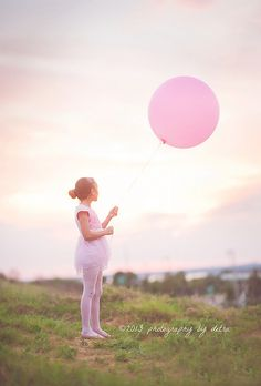 Pink- Balloons for her birthday!  Natural light photography    Pink tones~ by detrap, via Flickr
