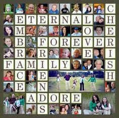 Friends and Family photos -- love this idea.