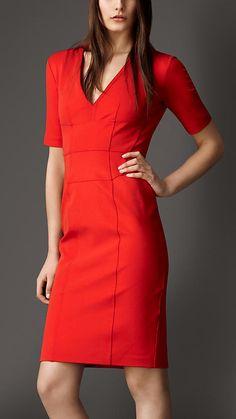 Corset-Jersey V-Neck Dress