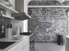 FACTORY II - Contemporary wallpaper / patterned / concrete look by Rasch