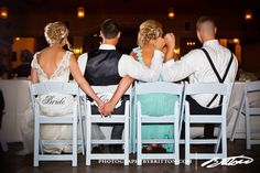 Super cute BFFL shot with the newlyweds, the best man + the maid of honor! | Photography by Britton